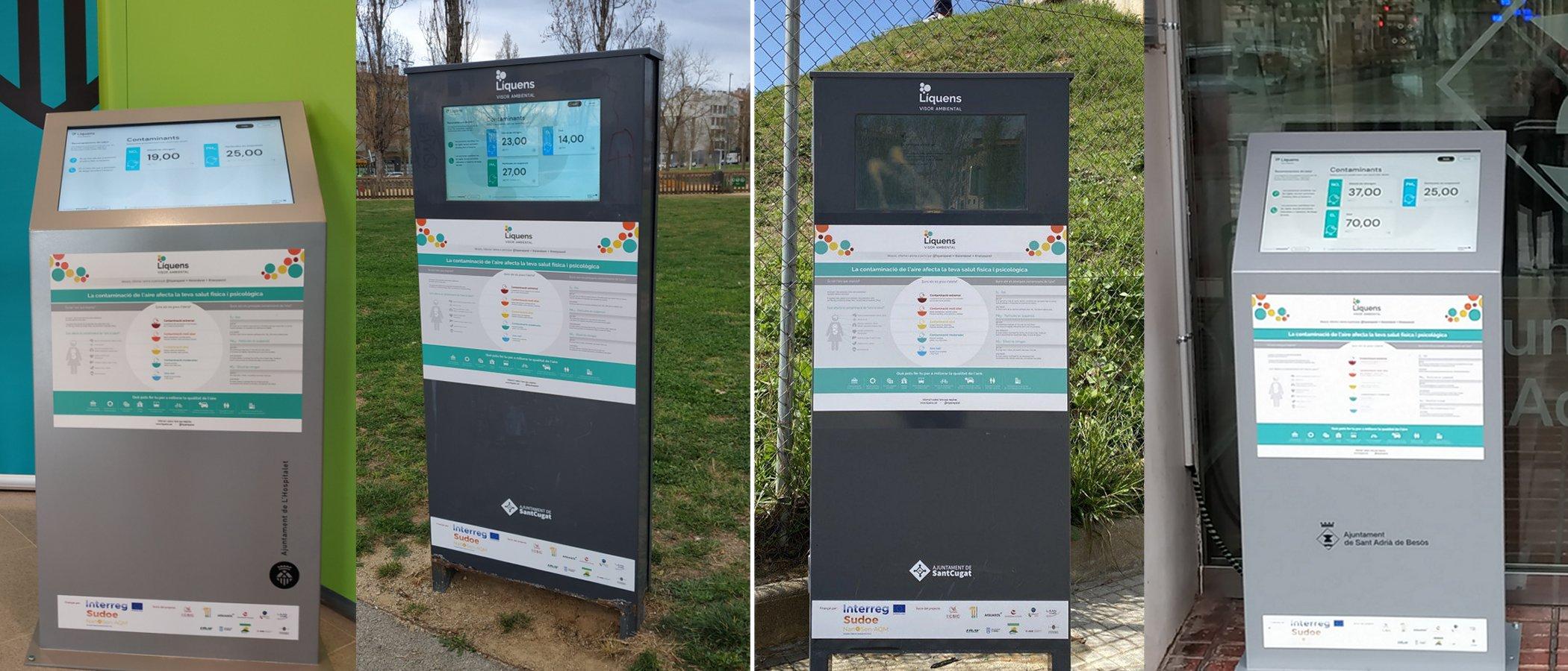 Els panells LÍQUENS actius a  3 municipis de l'Àrea metropolitana de Barcelona